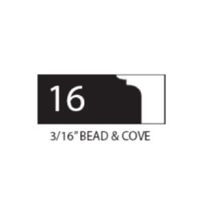 "(SET 3) 1"" COROB LIGHT DUTY MOULDING KNIVES (3 / 16"" BEAD & COVE)"