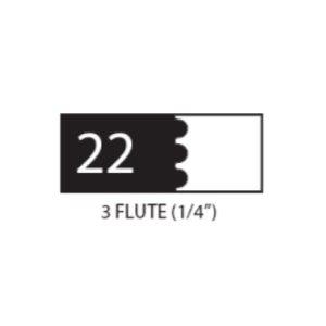"(SET 3) 1"" COROB LIGHT DUTY MOULDING KNIVES (3 FLUTE, 1 / 4"" )"