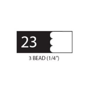 "(SET 3) 1"" COROB LIGHT DUTY MOULDING KNIVES (3 BEAD, 1 / 4"")"