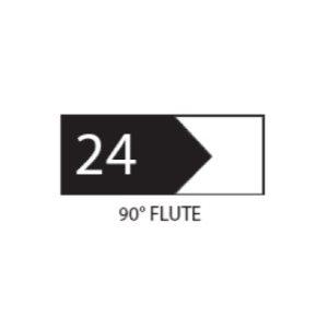 "(SET 3) 1"" COROB LIGHT DUTY MOULDING KNIVES (90 DEG FLUTE)"