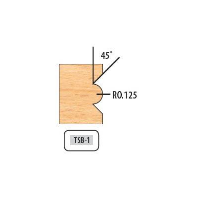 .125 RAD 45° 6 WING 5 / 8'' BORE 8'' DIAMETER